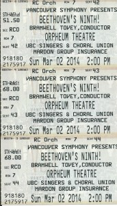 Tickets to Beethoven's 9th