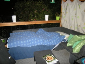 bed outdoors the 50 - 50 list