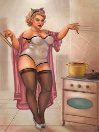Lingerie in Kitchen